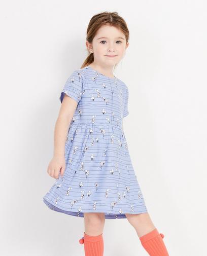 Blauw jurkje met dierenprint