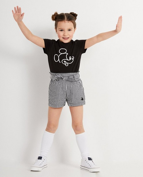 Short met ruitjespatroon Mickey - zwart - wit - Mickey