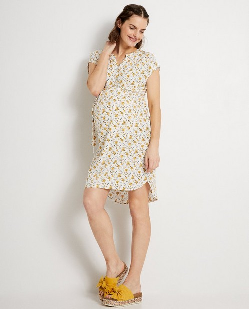 Robe blanche, imprimé JoliRonde - imprimé fleuri intégral - Joli Ronde