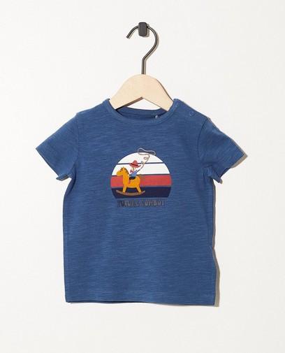 T-shirt bleu en coton bio