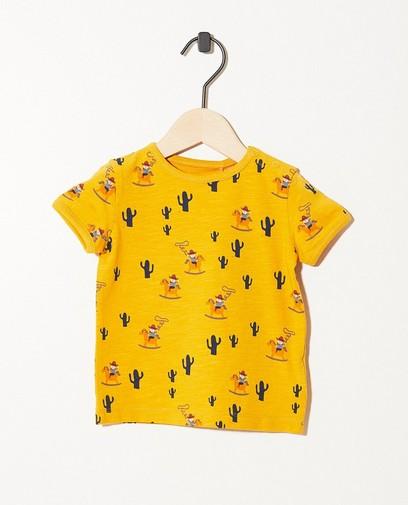 Okergeel T-shirt van biokatoen