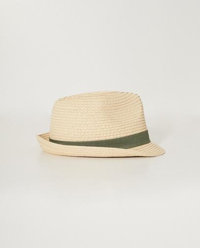 Beigefarbener Hut mit Band, 7-14 Jahre