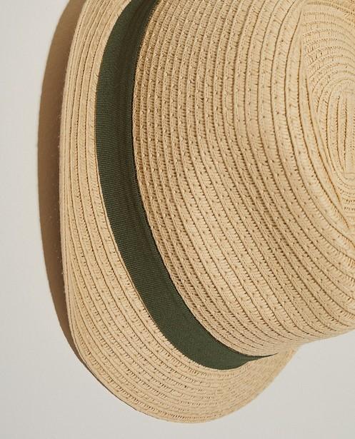Breigoed - Beige hoedje met band 7-14 jaar