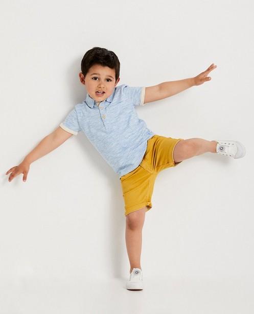 Short ocre, 2-7 ans - bouton coulissant - JBC