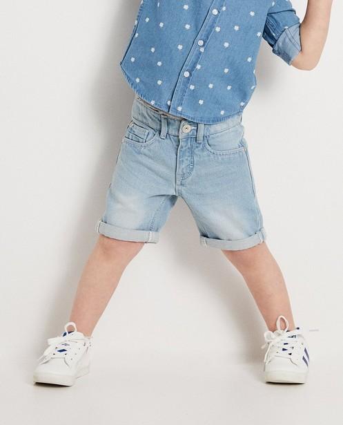 Shorts - aqua - Lichtblauwe denimshort