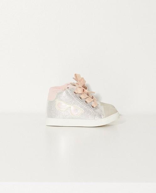 Sneakers met leren binnenzool - en zilveren coating - Sprox