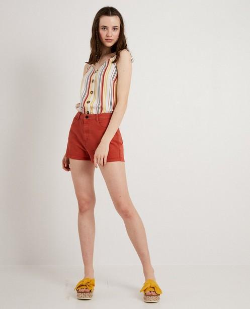 Short brun rouge, taille haute - stretch - JBC