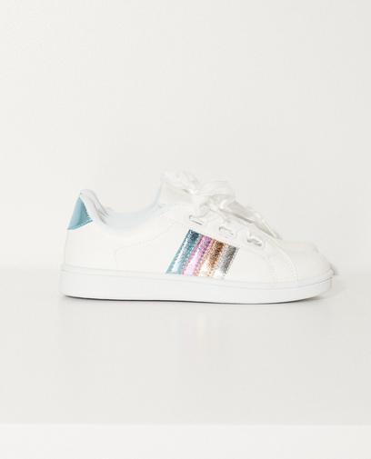 Sneakers met glitterstrepen