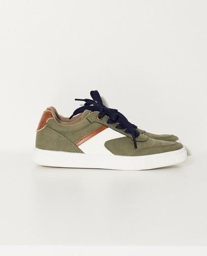 Sneakers met leren binnenzool