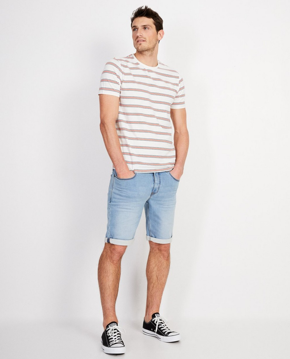 Wit T-shirt met strepen - in 2 kleuren - JBC