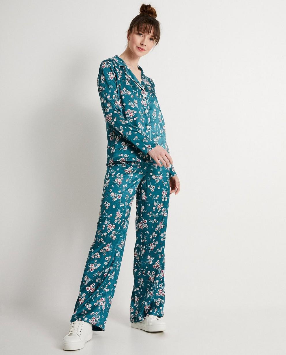 Pantalon souple vert - imprimé fleuri - JBC