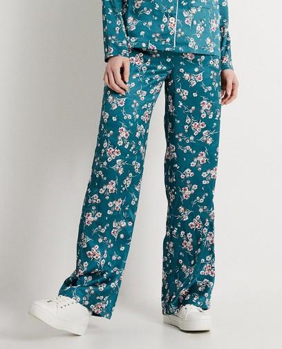 Soepele broek met bloemenprint