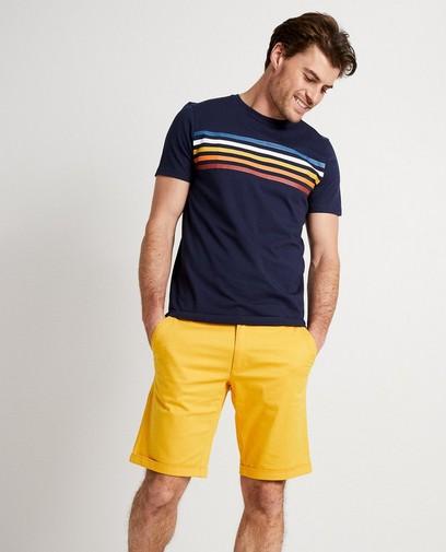 Donkerblauw T-shirt met strepen