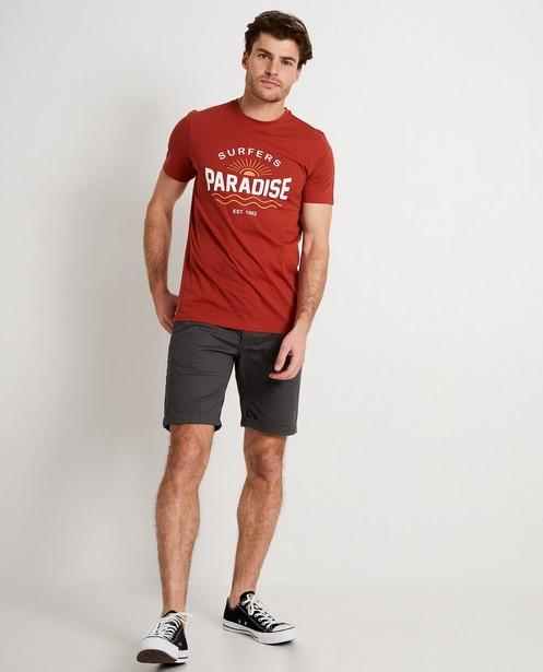 T-shirt rouge avec imprimé - surfers paradise - JBC