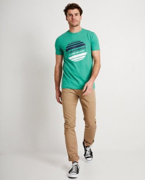 Groen T-shirt met print - en opschrift - JBC