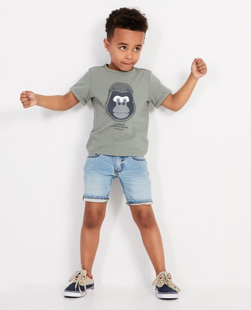 Khakifarbenes T-Shirt mit bedrohtem Tier, 2-7 Jahre - #familystoriesjbc - JBC