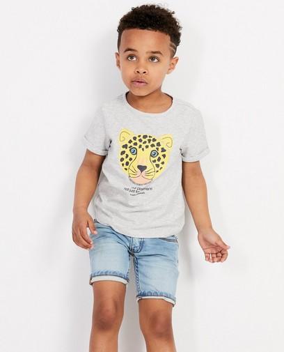 Grijs T-shirt met bedreigd dier 2-7 jaar