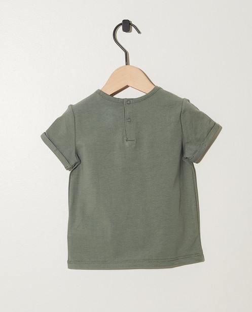 T-Shirts - Grün - Khakifarbenes T-Shirt mit Print eines Löwen