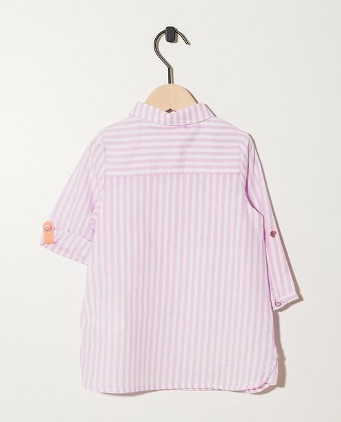 Kleedjes - AO1 - Wit-roze hemdjurk met strepen