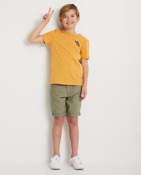 Lichtblauw T-shirt  - met stoffen print - JBC