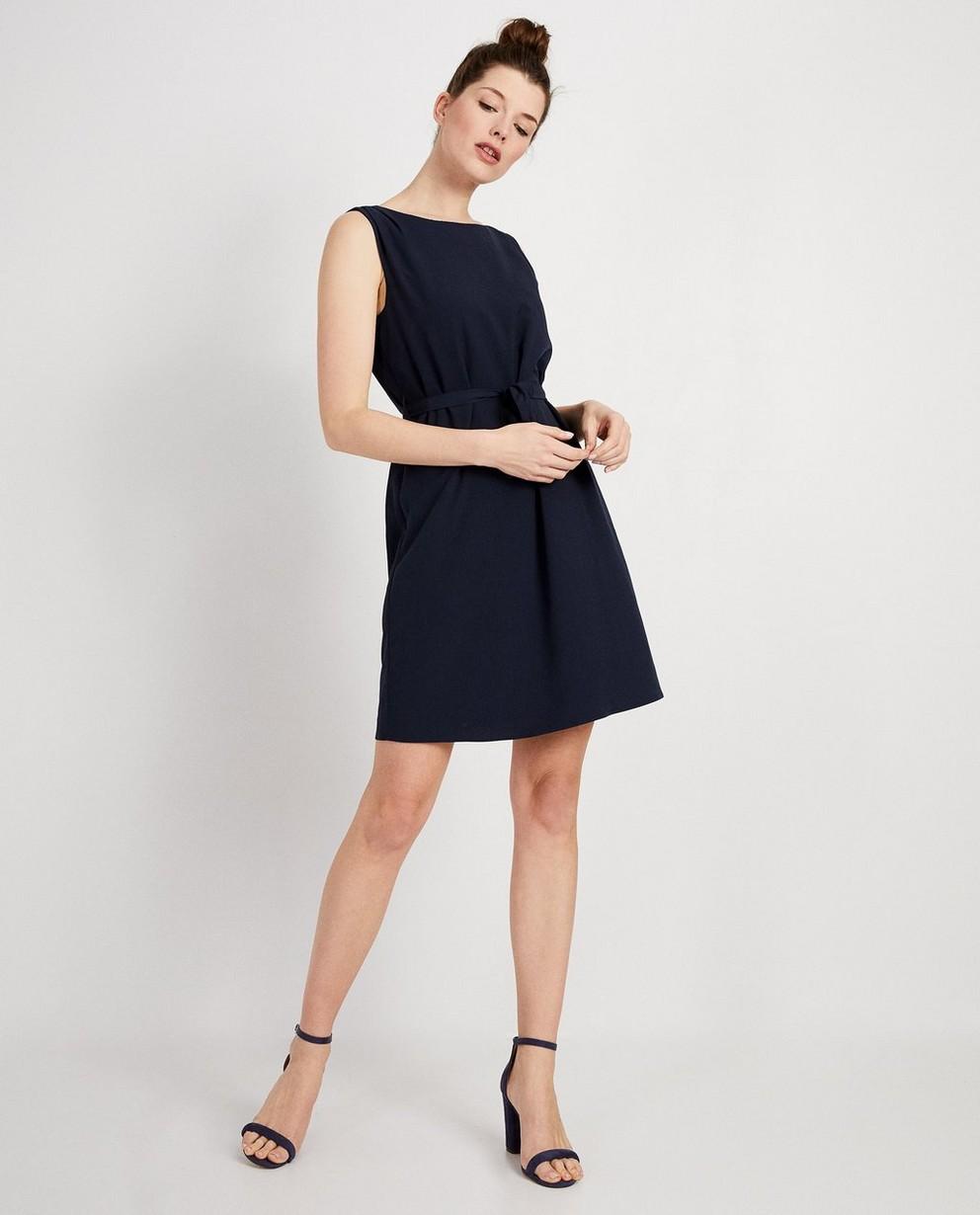 Donkerblauwe jurk  - met rugdetail - JBC