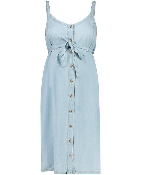 Lichtblauwe denim jurk Mamalicious - Zwangerschapsjurk - mali