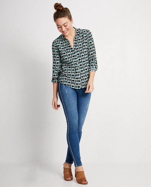 Destroyed jeans Sara De Paduwa - Met glanzend biesje - padu