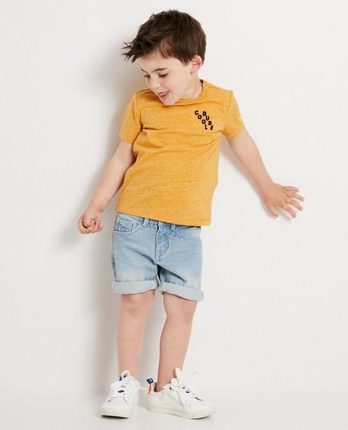 T-shirt ocre, 2-7 ans - imprimé - JBC