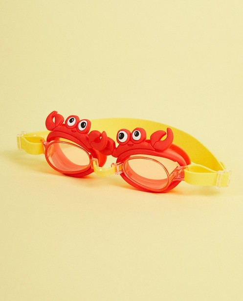 Lunettes de natation Sunnykids - rouge, avec des crabes - suli