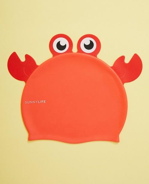 Bonnet de natation Sunnykids - rouge, avec des crabes - suli