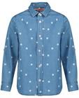 Chemises - Denimhemd met klavertjesprint