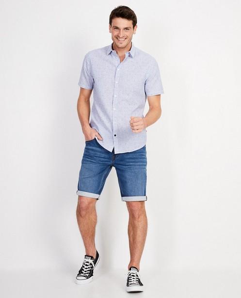 Wit hemd van linnen - met print - JBC