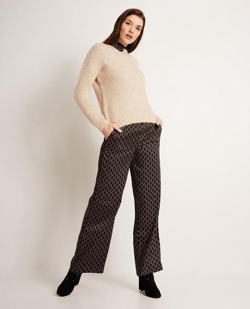 Pantalon palazzo - imprimé, taille élastique - JBC