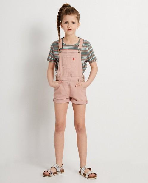T-shirt kaki, motif côtelé Ketnet - et rayures - Ketnet