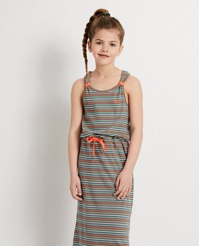 Kaki maxi-jurk met strepen Ketnet
