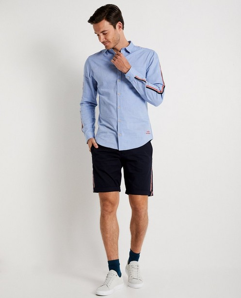 Chemise bleu clair avec bande - look denim - JBC