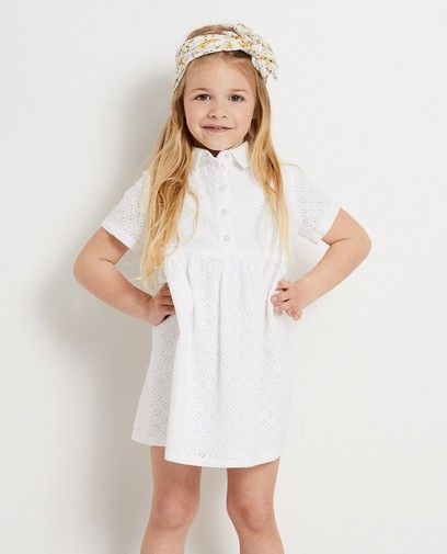 Witte jurk met broderie anglaise