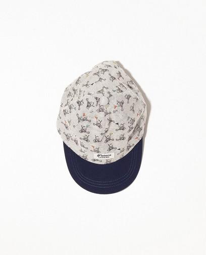 Graue Kappe mit Fahrradprint