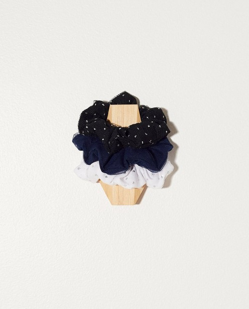 3 chouchous de communion - blanc, noir et bleu foncé - Milla Star