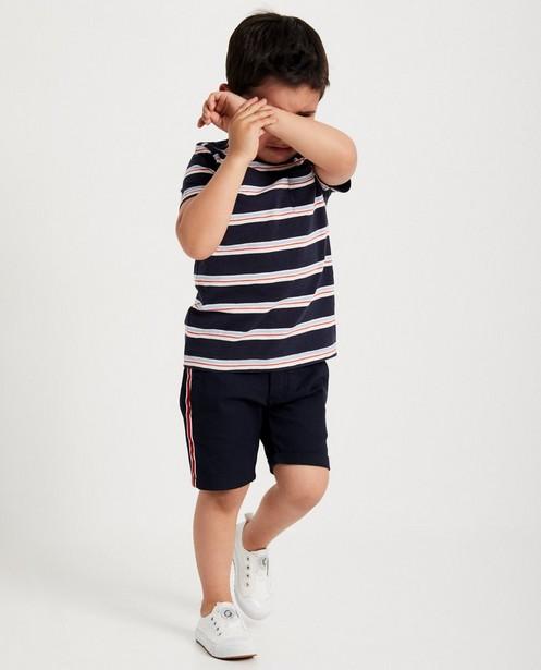 T-shirt bleu, 2-7 ans, rayures - sur toute la surface - JBC