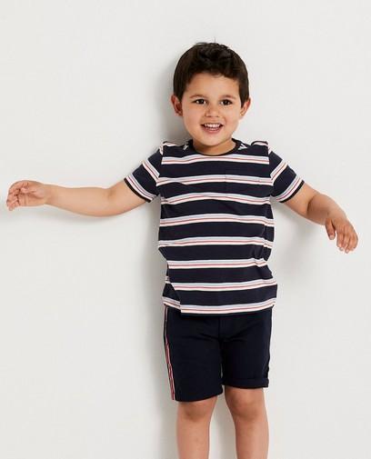 Blauw T-shirt met strepen 2-7 jaar