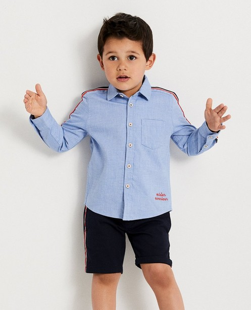 Chemises - light turquise - Lichtblauw hemdje, 2-7 jaar