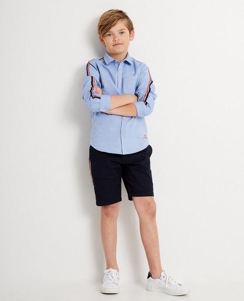 Short bleu foncé, 7-14 ans - rayure - JBC