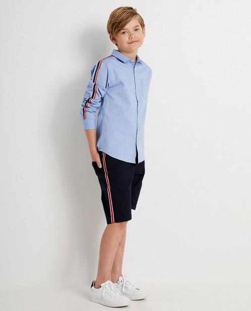 Lichtblauw hemd 7-14 jaar - met strook - JBC