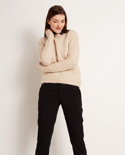 Pull beige en tricot