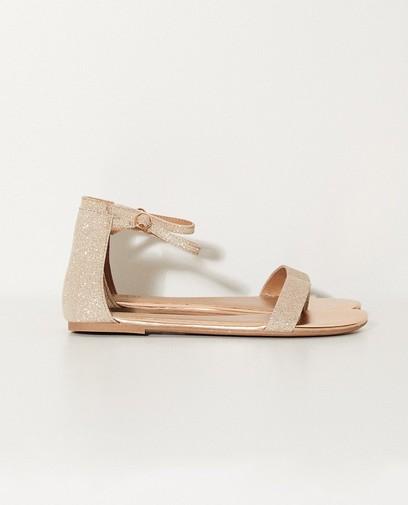Vegan sandalen met glitterprint