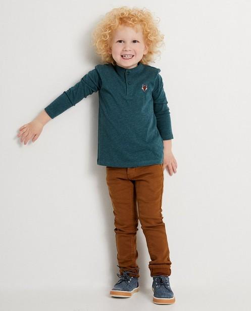 T-shirt à manches longues - bleu foncé, coton bio - JBC