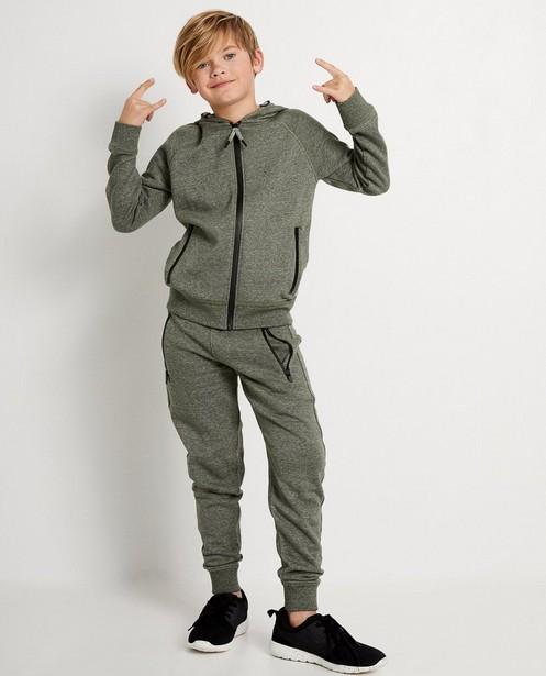 Pantalon de jogging bleu, 7-14 ans - chiné - JBC