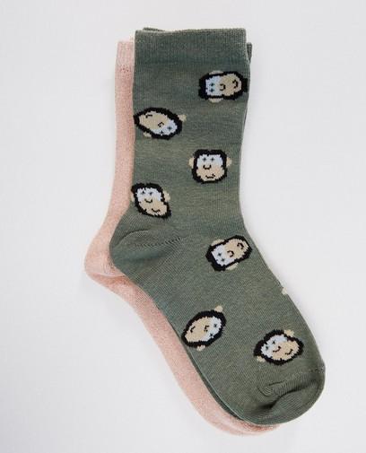 2 paires de chaussettes - singes