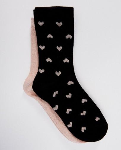 2 paires de chaussettes - cœurs